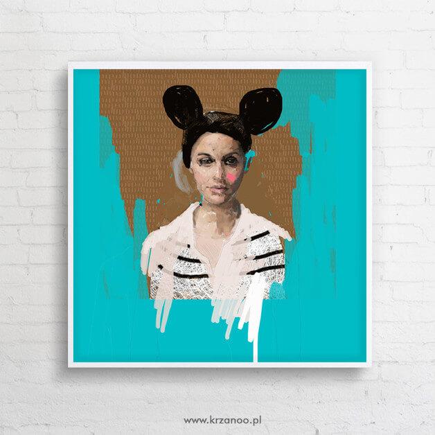 obraz-kobieta-niebieski