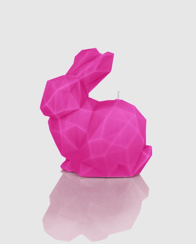 rozowy-geometryczny-krolik-swieca
