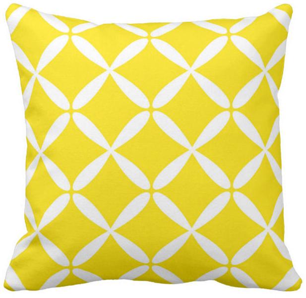 żółta-poduszka-boho-geometryczny-wzór