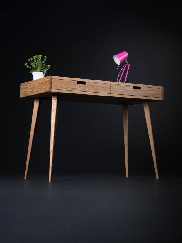 dębowe-biurko-drewniane