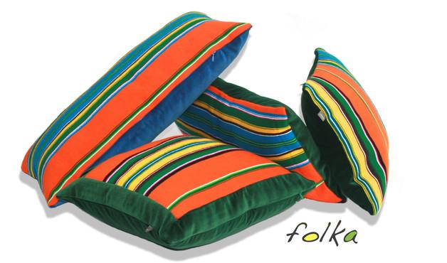 poduszka-folk-pasiak-łowicki-boho