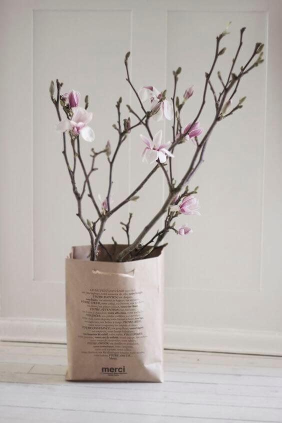 wazon DIY wazon z torby papierowej