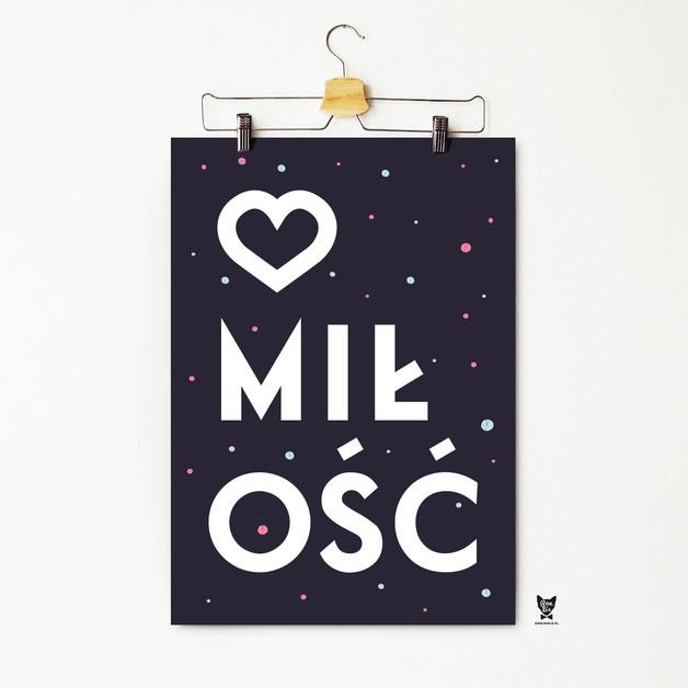 Plakat Miłość Pan Lis Polisz Design