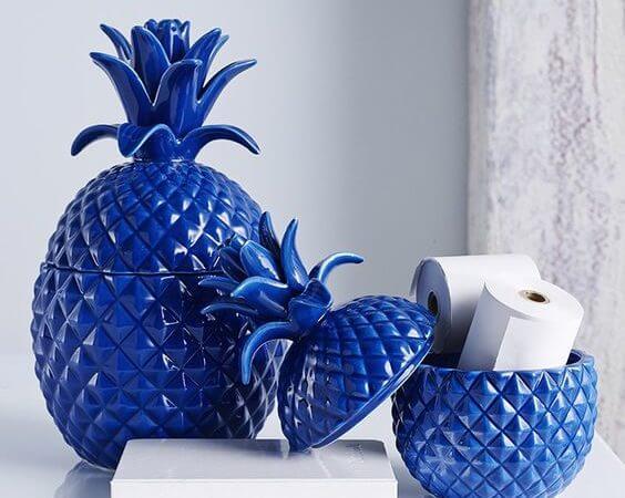 ananas ozdoby kobalt