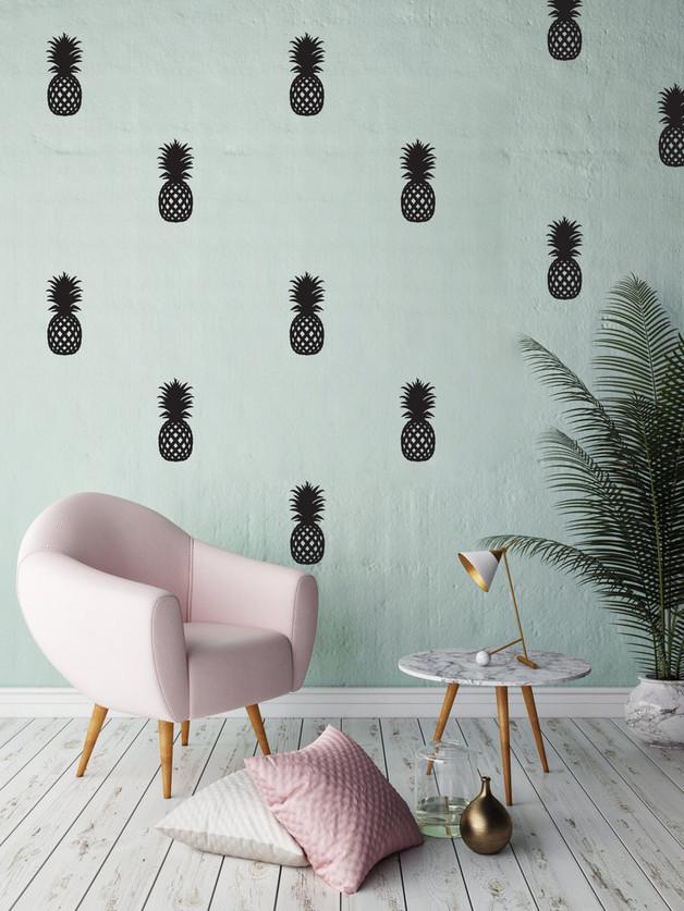 ananas-naklejka-ściana-tapeta-dekoracja