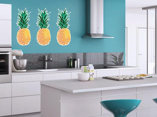 ananas-naklejka-ściana-wnętrze
