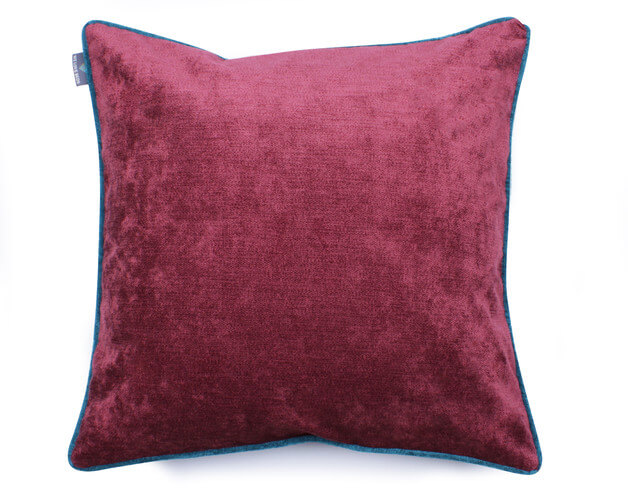 bordowa-poduszka-vintage-paprocie