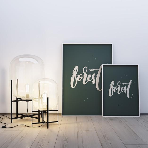 ciemna-zieleń-plakat-forest