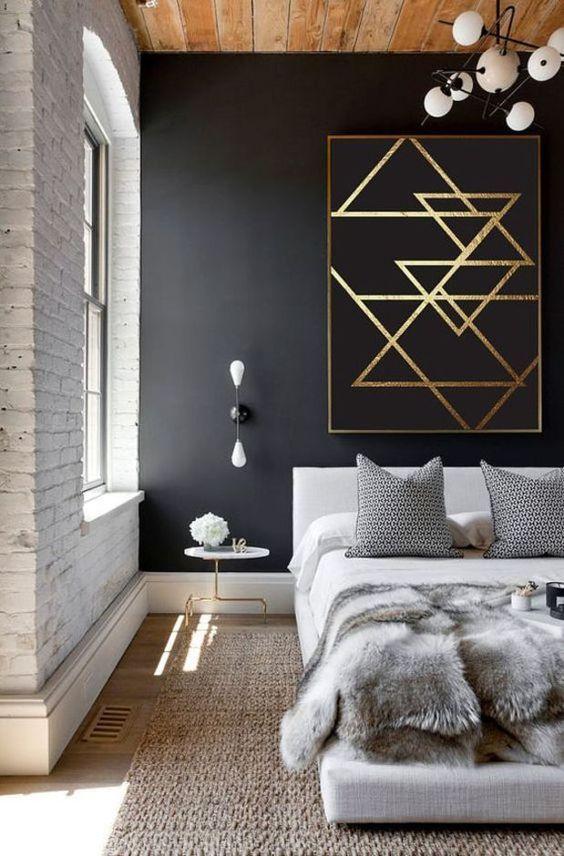 czarne ściany