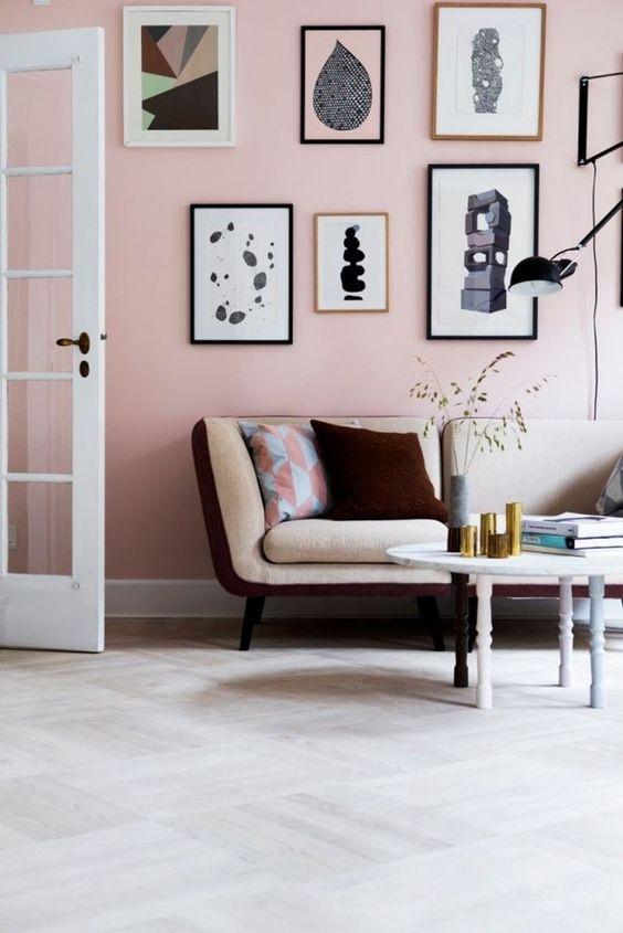 różowe ściany różowe wnętrze