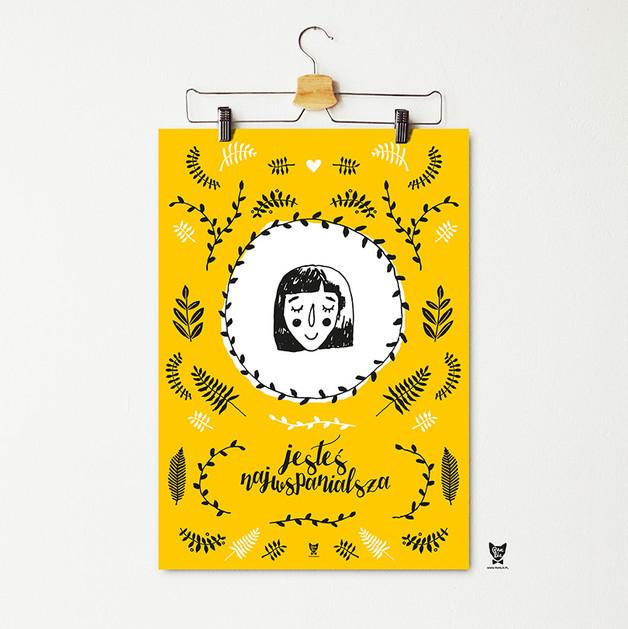 jesteś-najwspanialsza-żółty-plakat