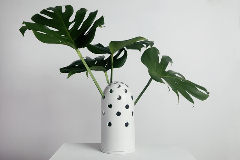 biały wazon design