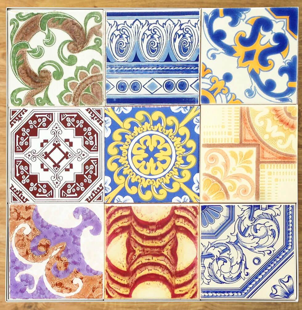 kolorowe płytki ceramiczne