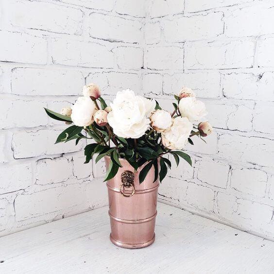wazon blaszane wiaderko wazon metaliczny