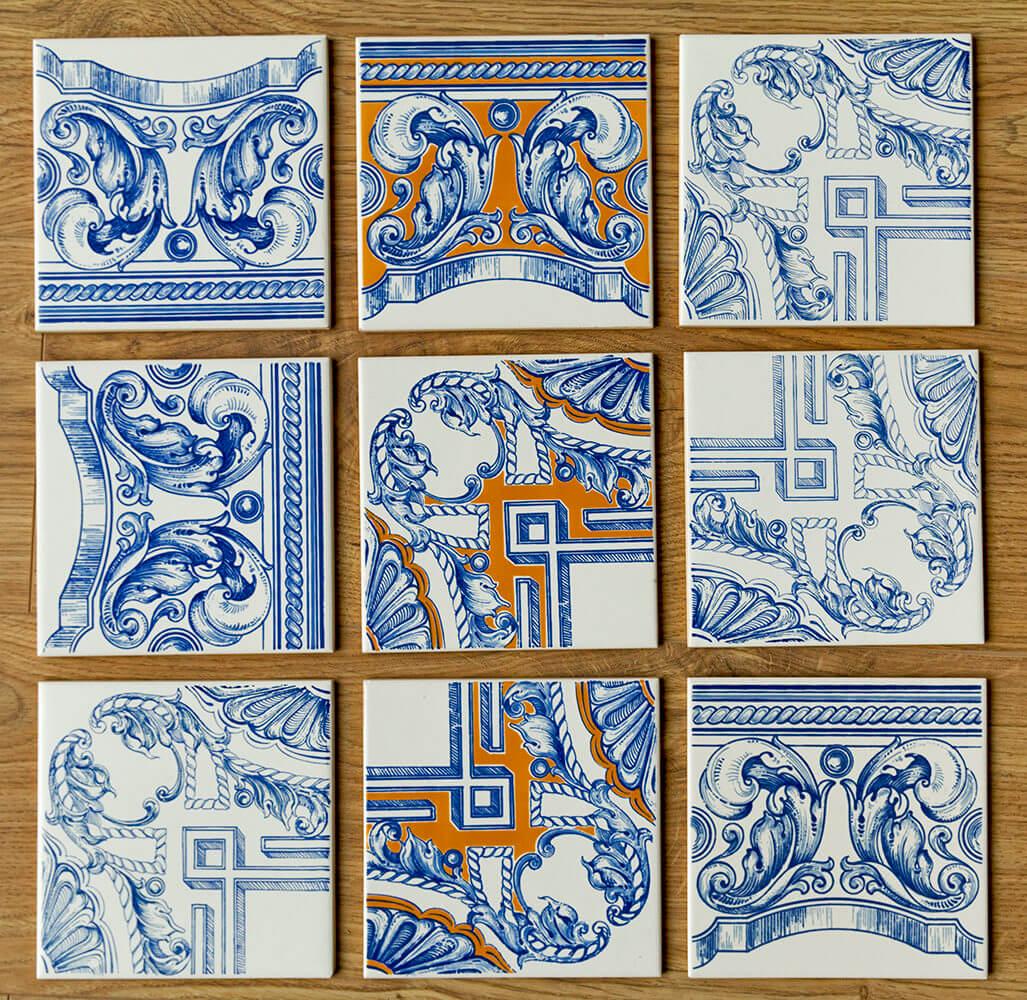 wzory ceramiczne płytki