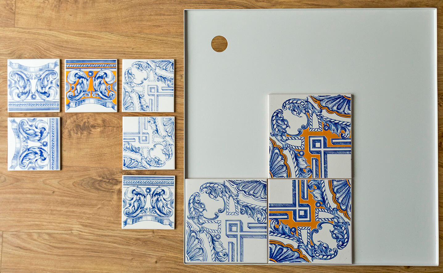 stolik z azulejos