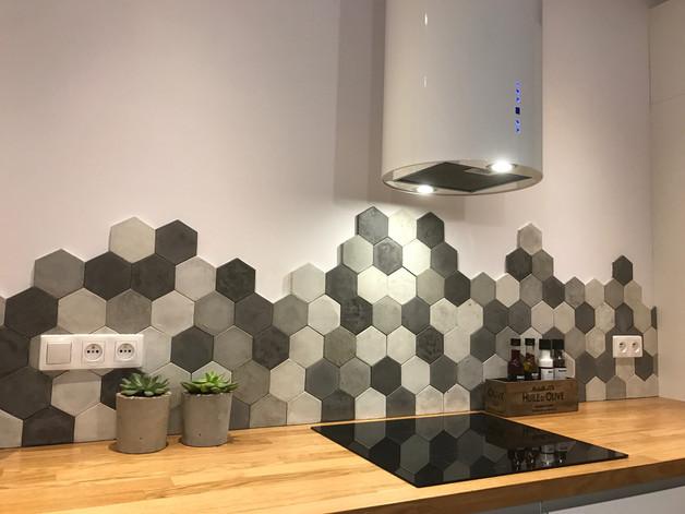 kafle beton kafelki patchwork wnętrze podłoga inspiracja