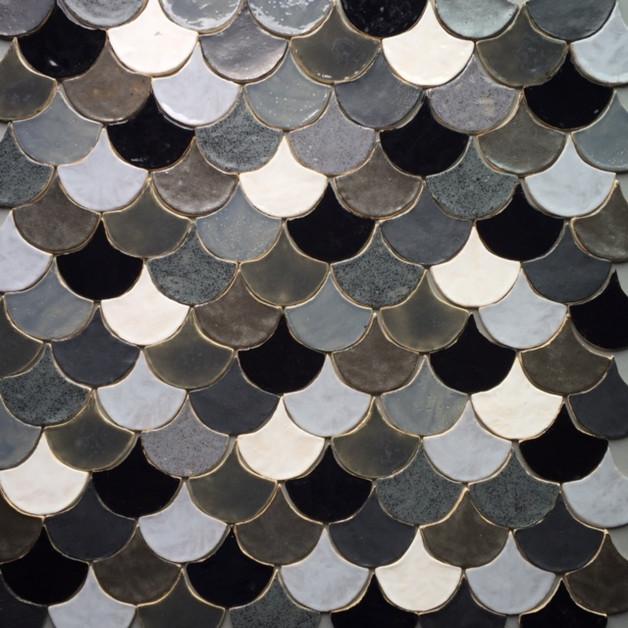 kafle rybia łuska płytki patchwork podłoga kafelki wnętrze