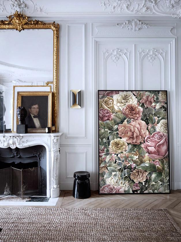 plakat-kwiaty-vintage-dom-wnętrze-inspiracja
