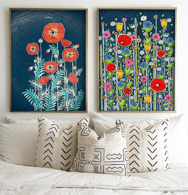 plakat-obraz-kwiaty-dom-wnętrze-inspiracja-maki