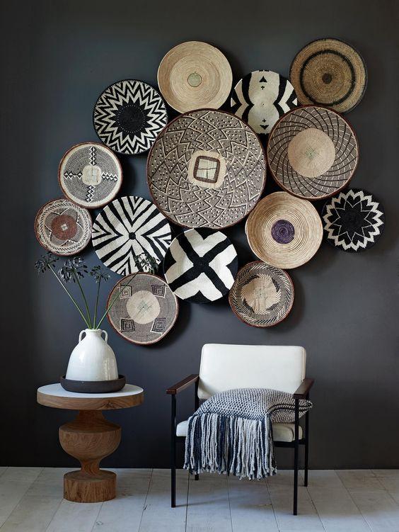 Okr g e wyplatane dekoracje na cianie polisz design for Plates to decorate