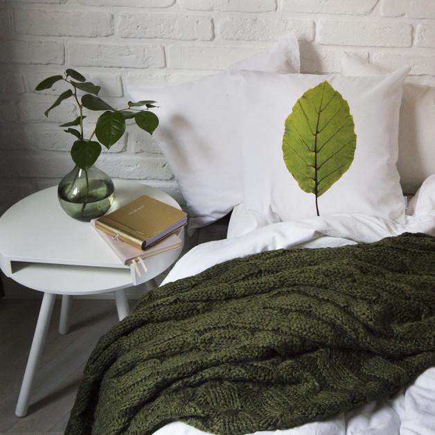 liść poduszka