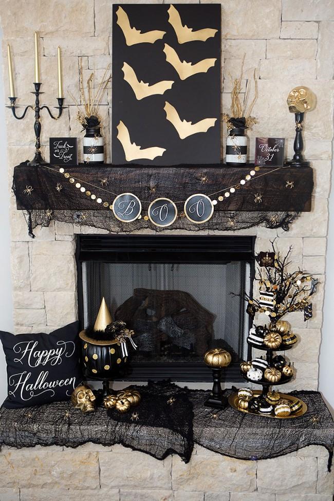 kominek na halloween