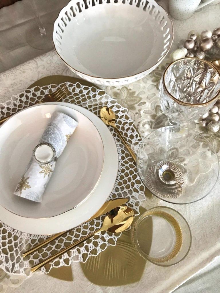 dekoracje na stół świąteczny