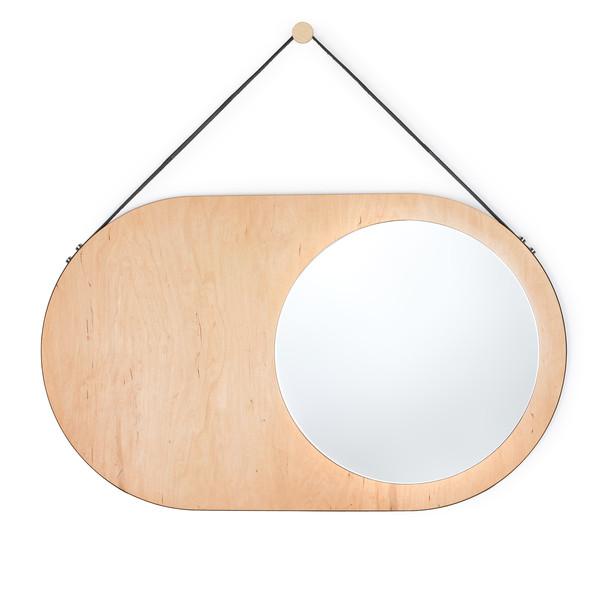 małe lustro drewniane