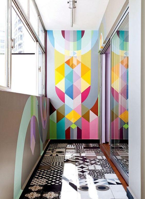 geometryczne ściany