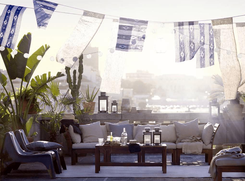 jak urządzić balkon- meble IKEA