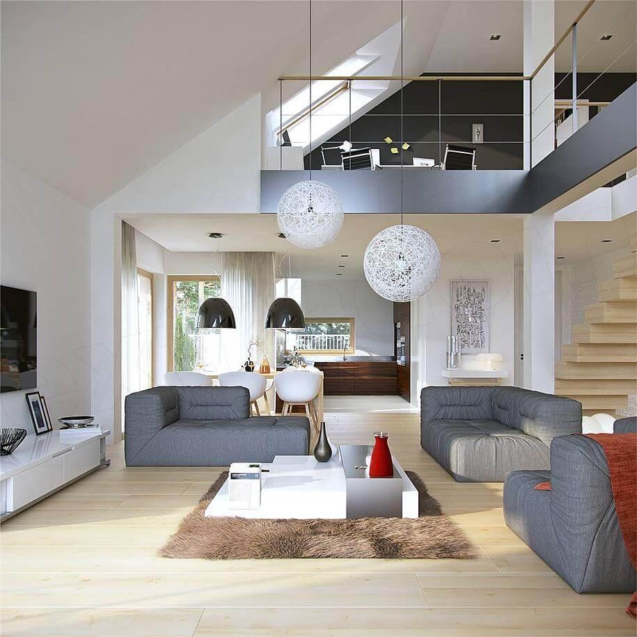 antresola, projekt domu doskonały