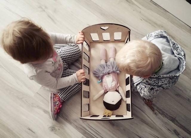 ekologiczne zabawki kołyska dla lalek