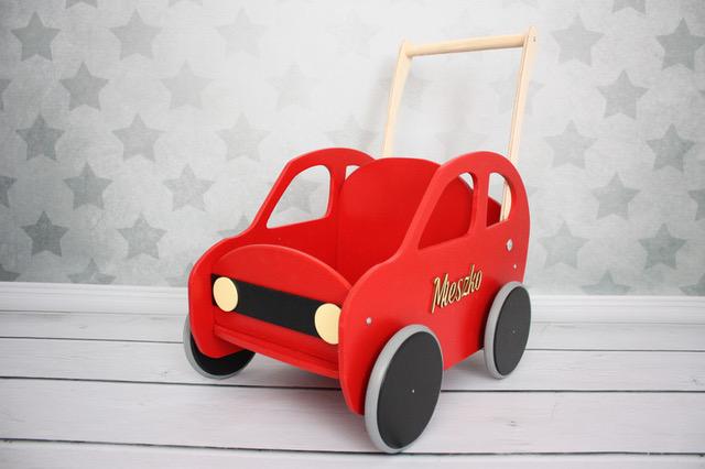 drewniany wózek samochód