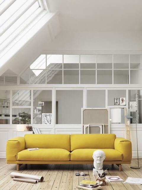 żółty kolor w mieszkaniu