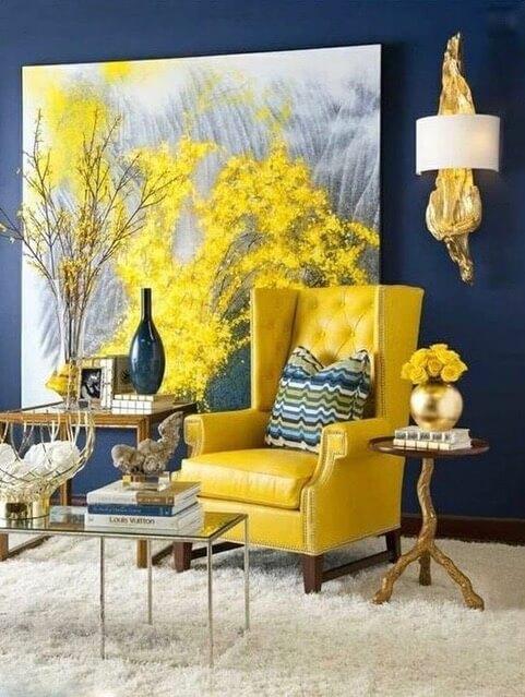 Meadowlark żółty kolor fotel
