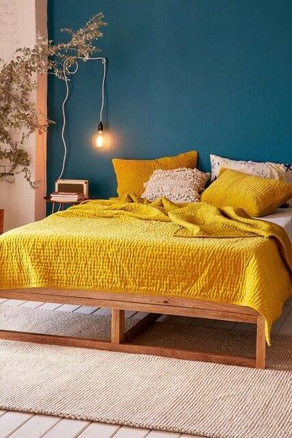 pościel kolor żółty