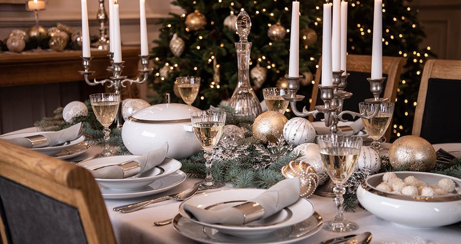 eleganckie święta stół glamour