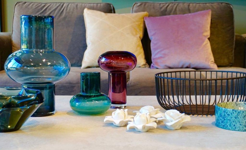 dekoracje BoConcept szklane wazony