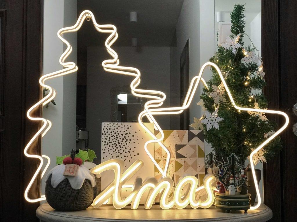 Świecące dekoracje