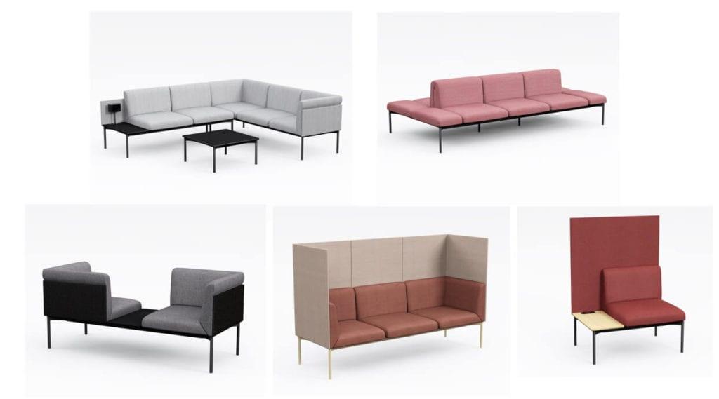 sofa minimalistyczna noty sona