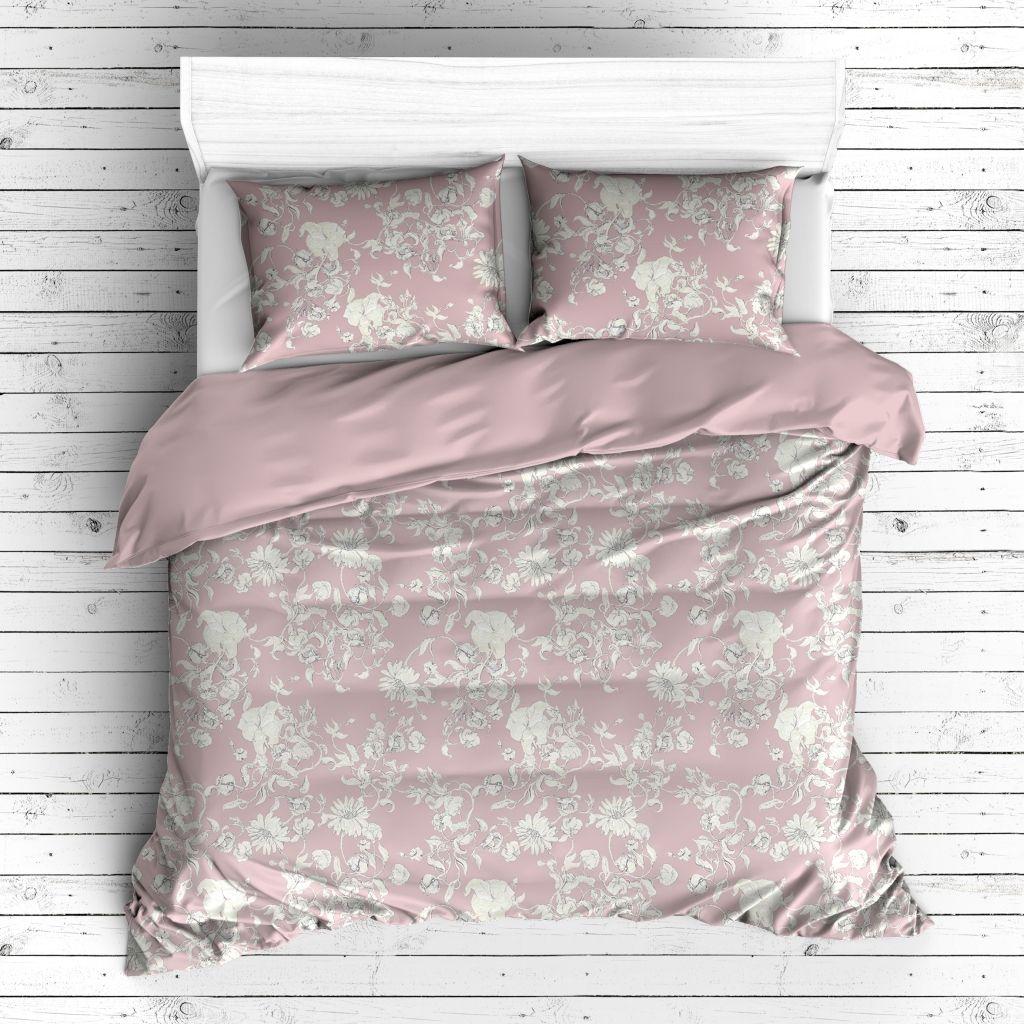 pościel home&you w pastelowe różowe kwiaty