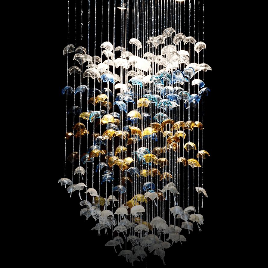 Edyta Barańska instalacja szklana