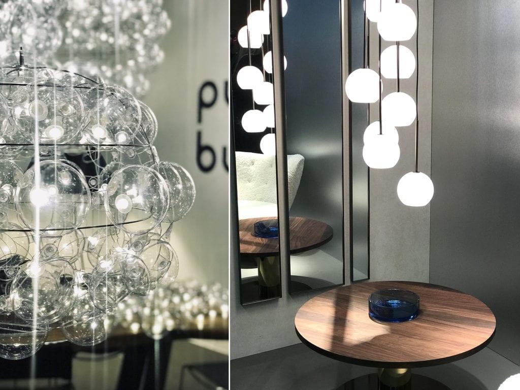 lampa ze szklanych kul