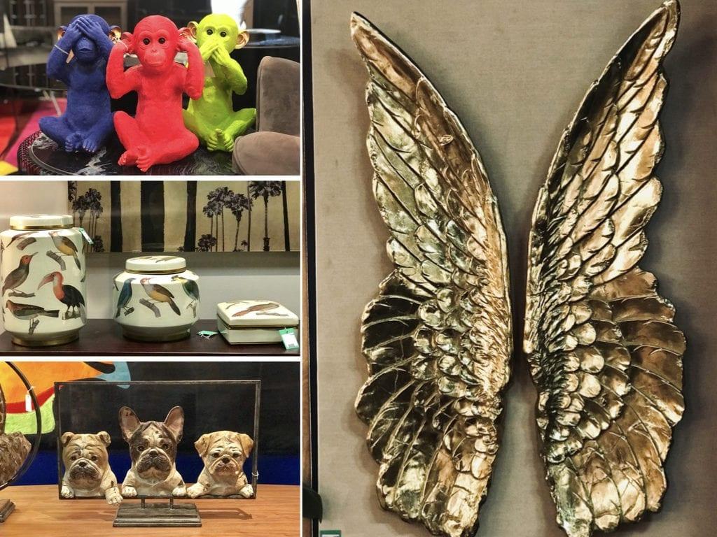 dekoracje skrzydła złote