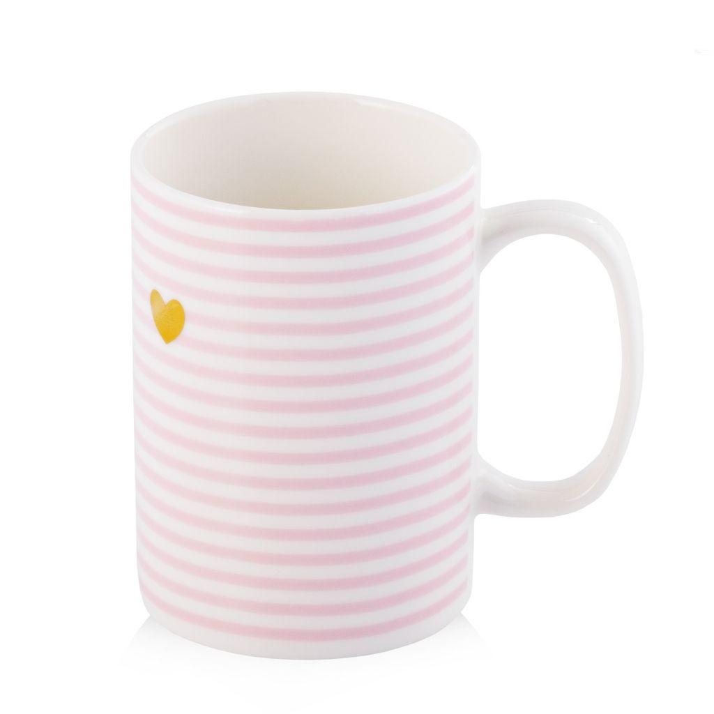 kubek do herbaty z sercem