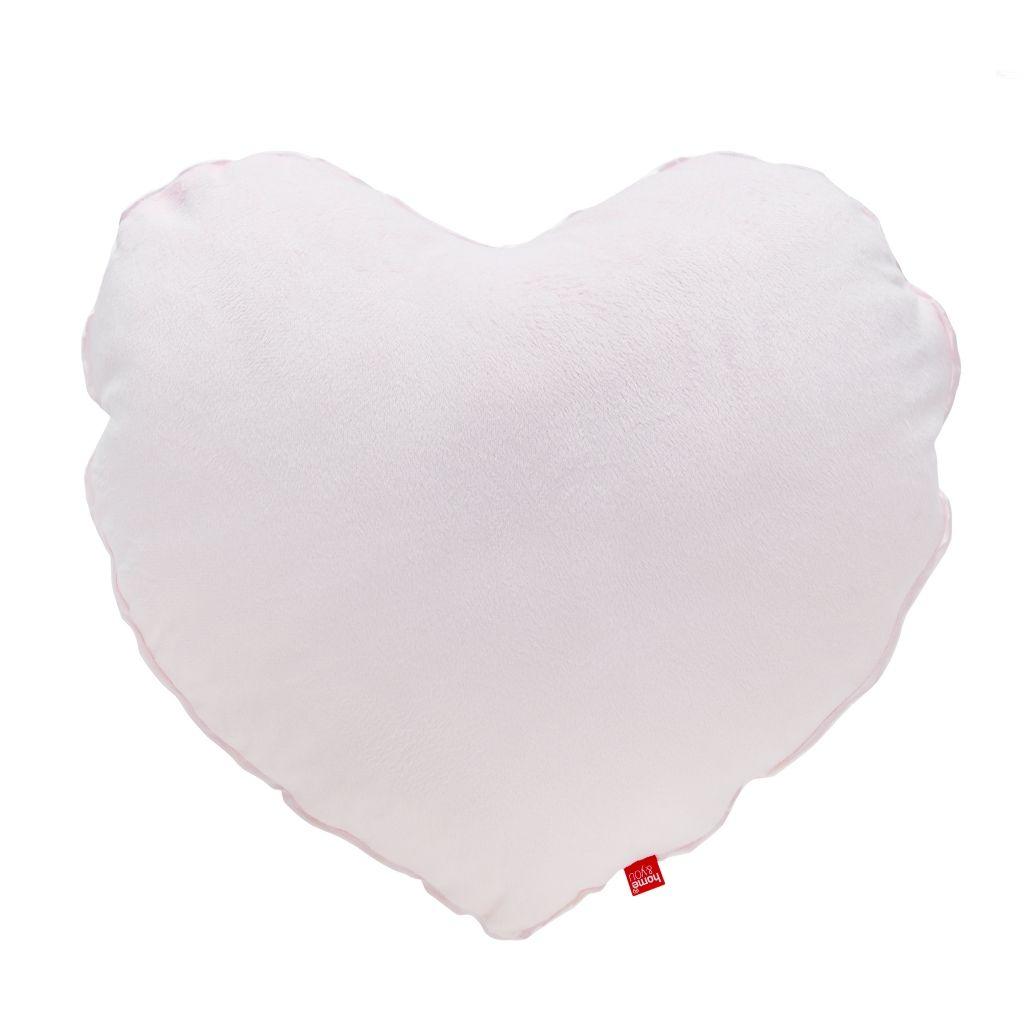 biała poduszka w kształcie serca