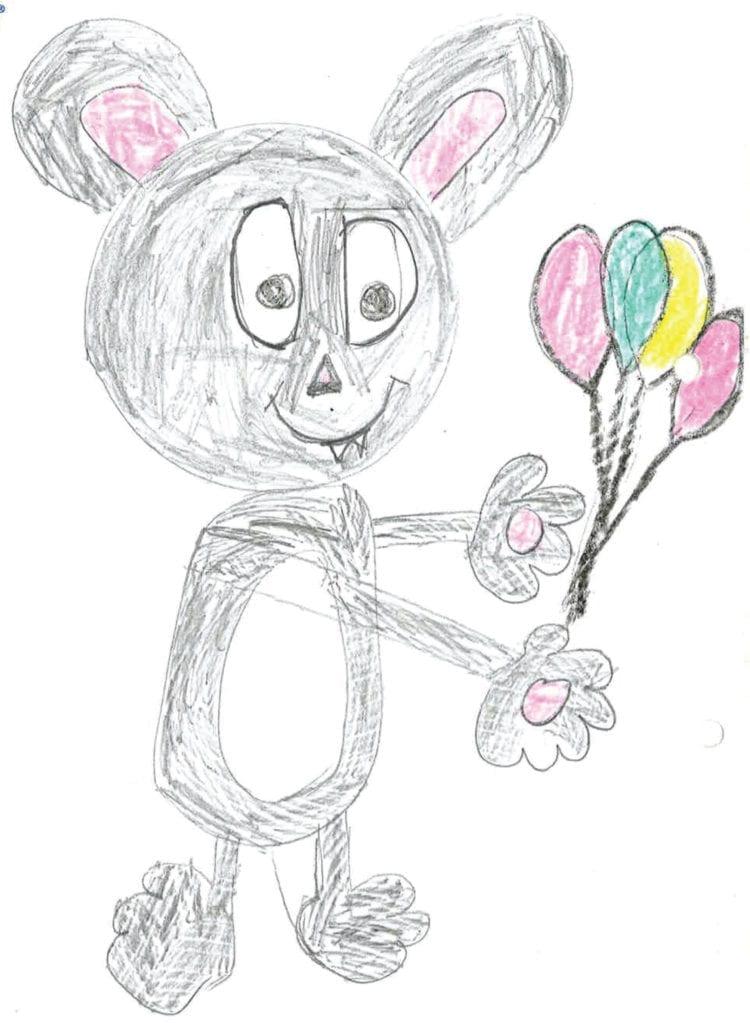 Zabawa to poważna sprawa mysz z balonami