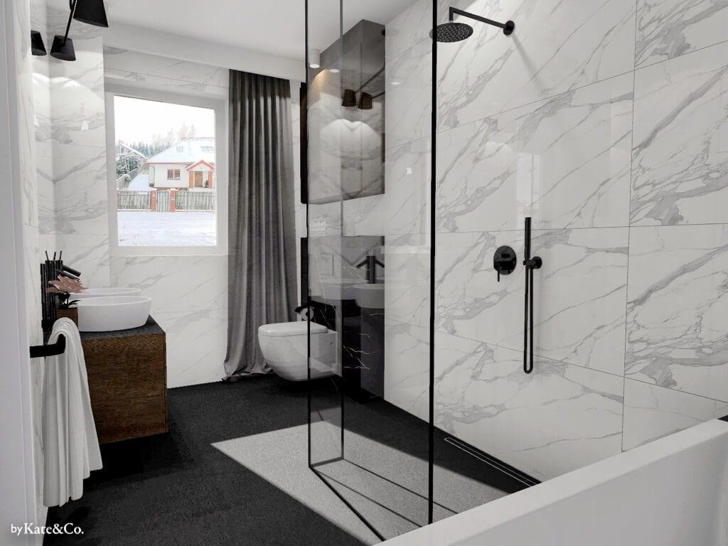 salon kąpielowy w marmurach