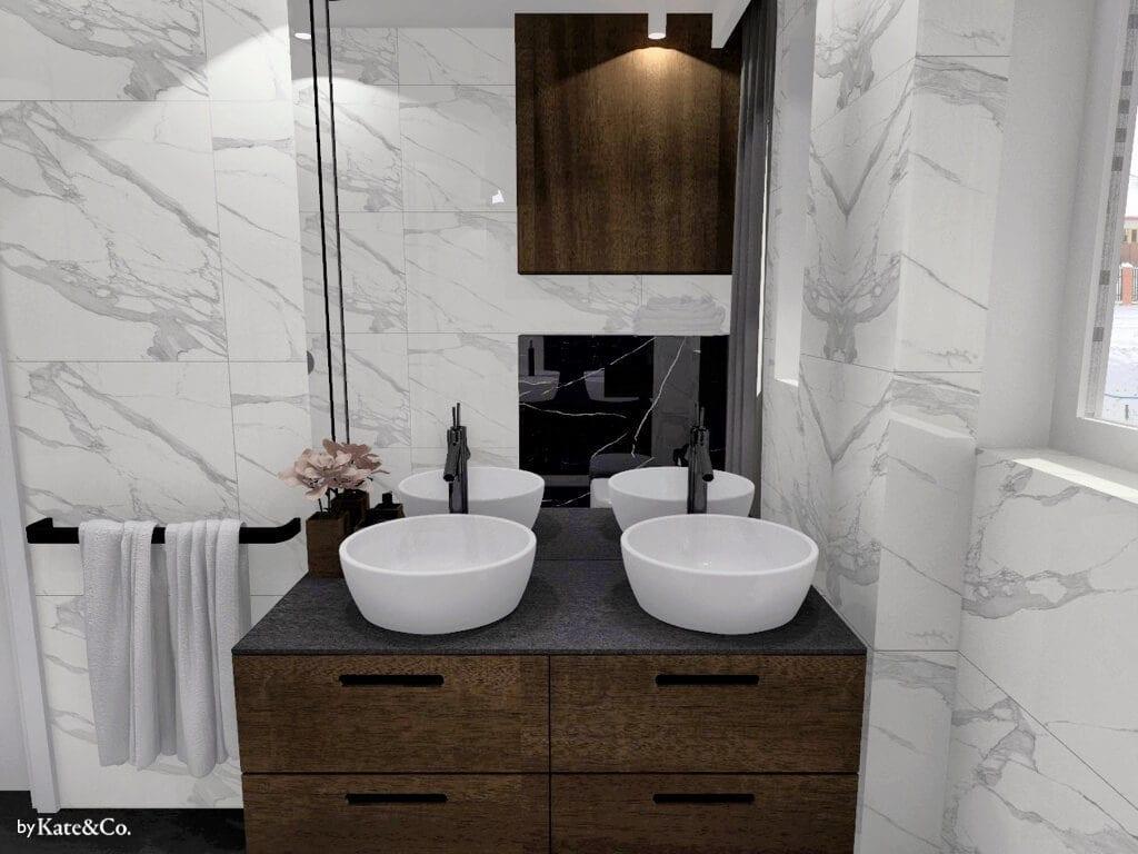 salon kąpielowy umywalka dla dwojga